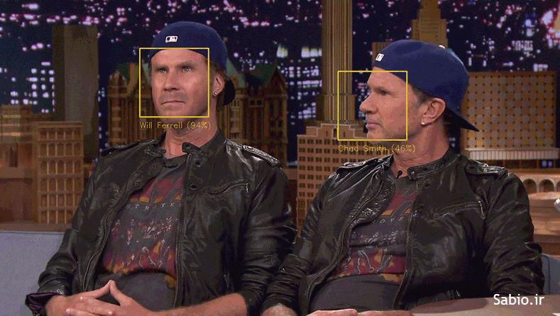 تشخیص چهره ویل فارل و جان اسمیت