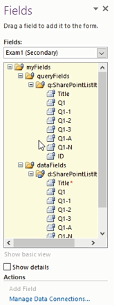 data field and query field in sharepoint