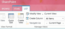 create View in sharepoint