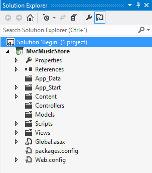 MVC ASP.net Solution directory