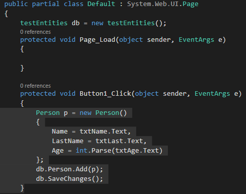 mvc net entity frame work tutorial