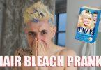شوخی سفید و آبی کردن موی نامزد