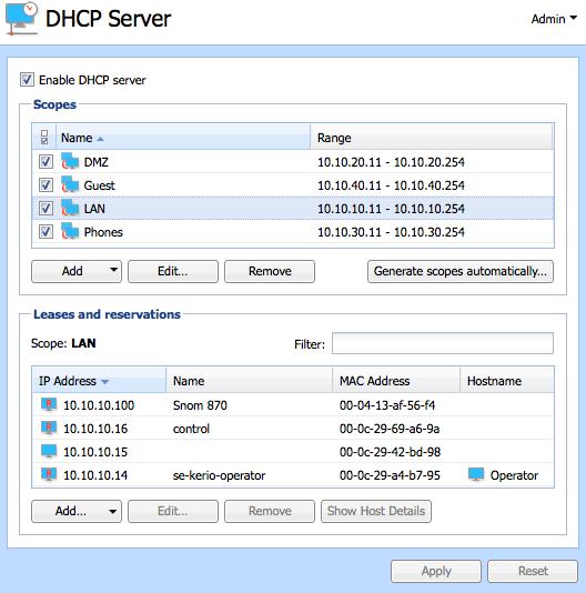 کریو کنترل DHCP